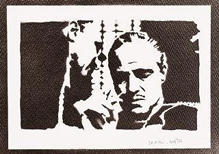 Poster Il Padrino Don Vito Corleone The Godfather Handmade Graffiti Street Art - Artwork