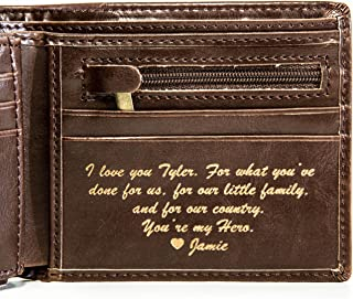 Best personalized metro leather wallet money clip Reviews