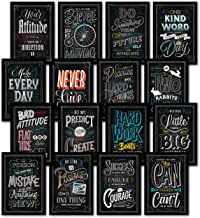 16 Inspirational Classroom Posters - Chalkboard Motivational Quotes for Students - Teacher Classroom Decorations 13 x 19 (Paper) 002