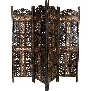 Marrakesch Krishna - Biombo de madera (200 x 180 cm), color marrón: Amazon.es: Hogar