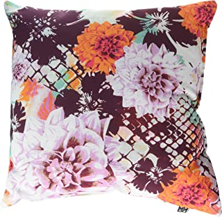 """Deny Designs Aimee St Hill Croc And Flowers Orange Throw Pillow, 16"""" x 16"""""""