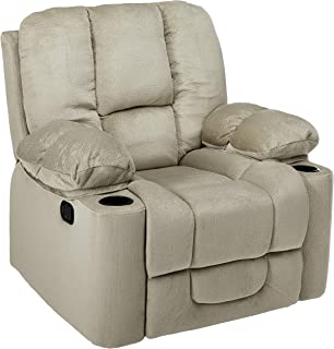 Christopher Knight Home Raymond Glider Recliner Club Chair, Latte Beige