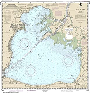 NOAA Chart 14850 Lake St. Clair: 33.82