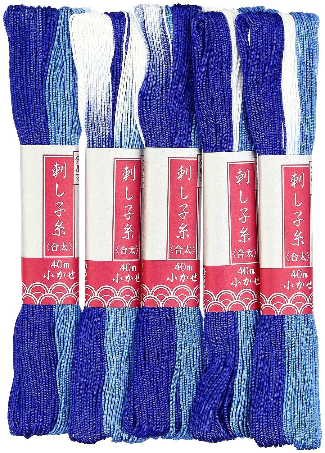 Yokota Daruma Pearl String Thread Dyed Small Fish Stain Dyed 40M Col.53 Blue 01-2190 (japan import)