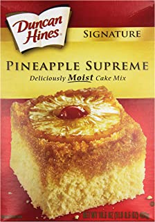 Duncan Hines Signature Cake Mix, Pineapple Supreme, 16.5 oz