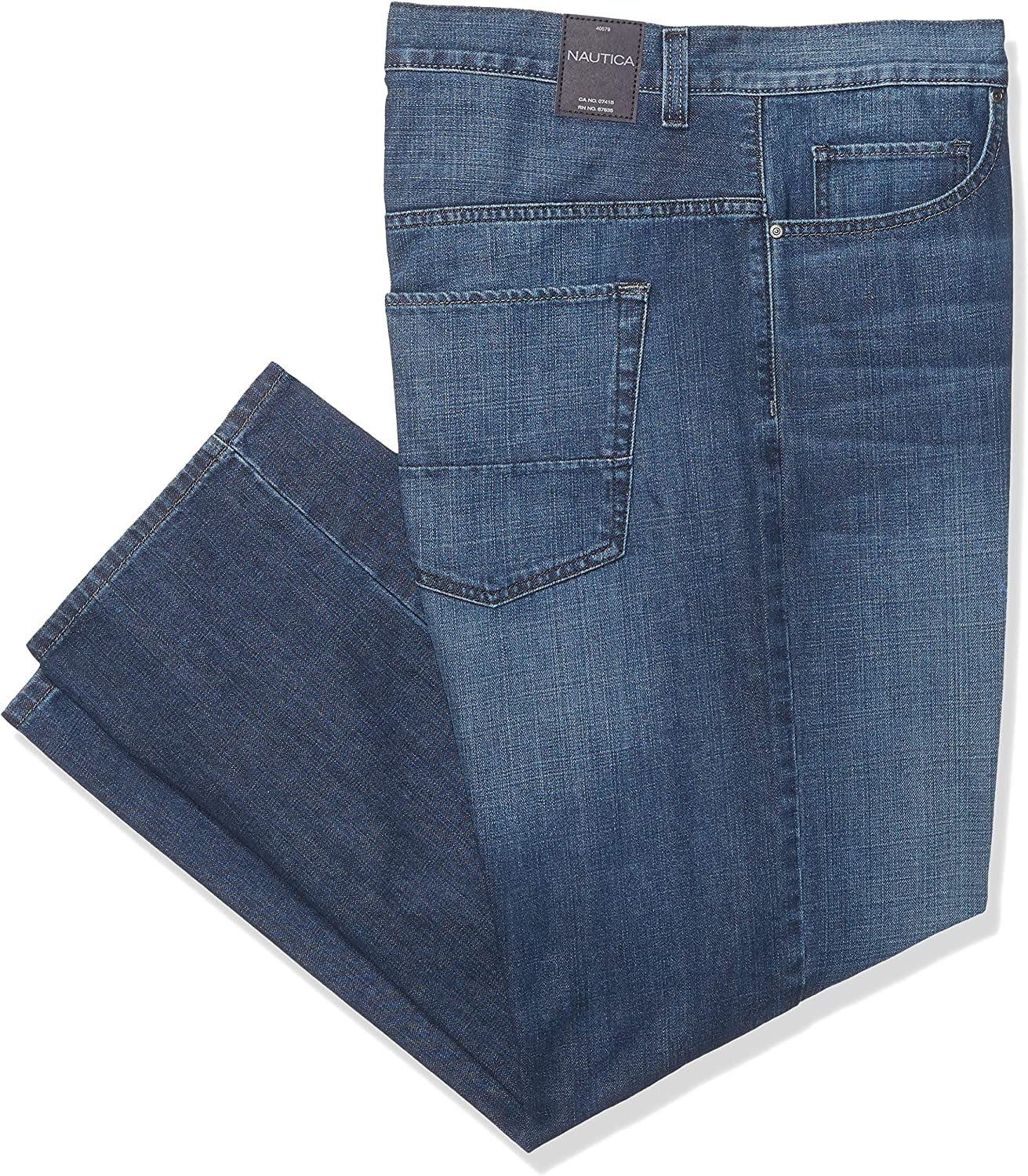 d1c9f284 Nautica Men's Big and Tall 5 Pocket Relaxed Fit Stretch Stretch Stretch  Jean a3c700
