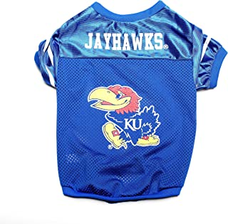 قميص رياضي للحيوانات الأليفة بشعار فريق كنساس جايهوكس الرابطة الوطنية لرياضة الجامعات من بيت جودز Small PSMJER-054