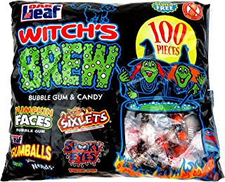 Witch's Brew, 100 Pieces of Bubble Gum & Candy