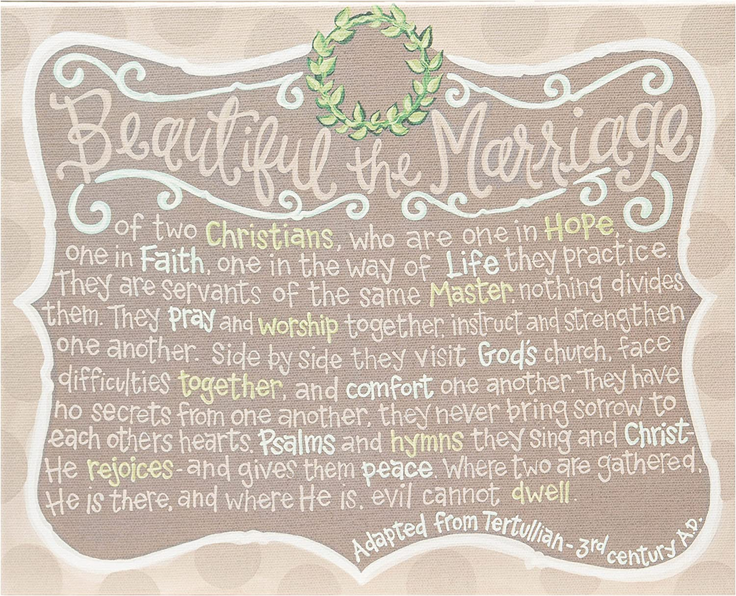Glory Haus Beautiful The Marriage Table Top, 2 X 12Inch