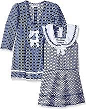 Bonnie Jean Girls' Check Jacquard Sailor Dress and Coat Set