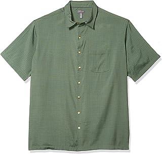Van Heusen Mens Big and Tall Air Short Sleeve Button Down Grid Shirt