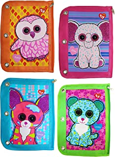 Ty Beanie Boos 3 Ring Binder Pencil Pouch, 10 x 7.5 Inches, Assorted Design Will Vary, 1 Count (813-2)