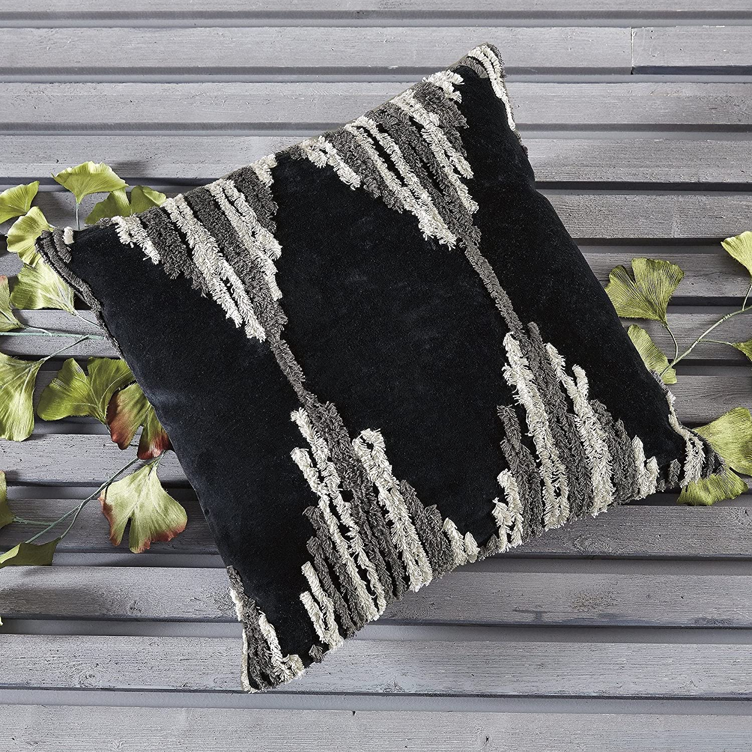Sales results No. 1 Unknown1 Boho-Chic Charcoal Pillow Grey Max 44% OFF Geometric Cotton Casual