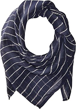 Vanessa Mooney - The Navy & White Stripe Rush Bandana