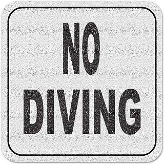 بلاط مخصص مائي من الفينيل 3M لاصق لحمام السباحة علامة العمق لا الغوص نص فقط ، غير قابل للانزلاق