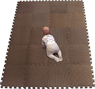 YIMINYUER es colchoneta Suelo de Camping EVA Puzzle Colchonetas 30cm x 30cm x1mm marrón R06G301020