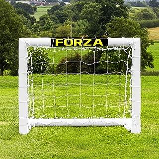 Net World Sports Forza Backyard Soccer Goals [6 Sizes] – Premium Weatherproof PVC Home Soccer Goal Posts 3ft x 2ft (Mini)