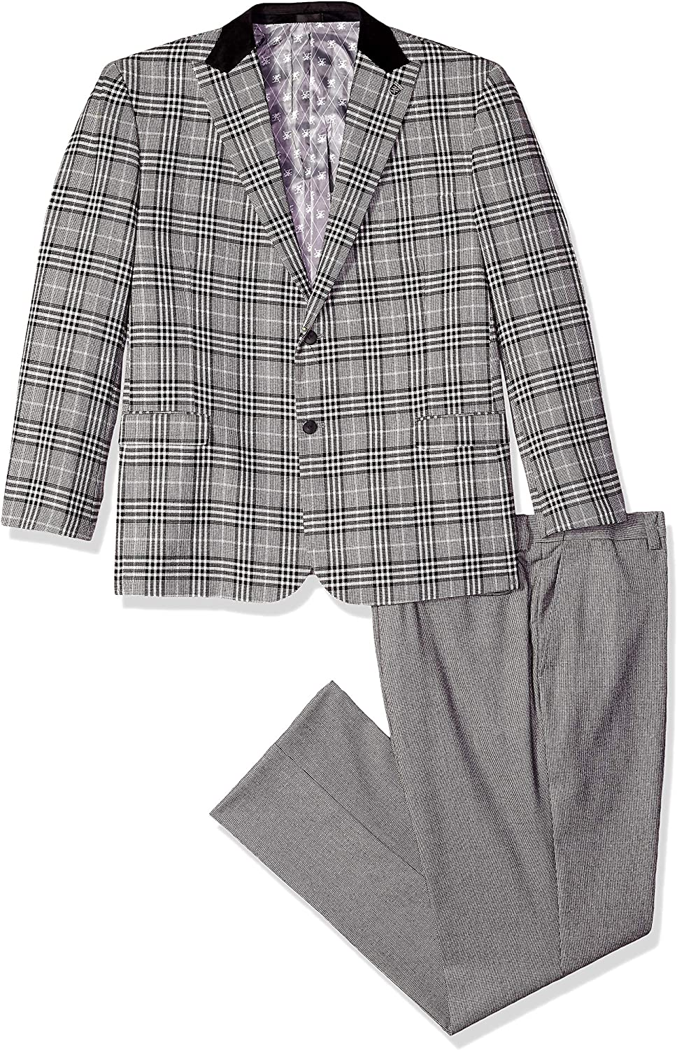 Direct sale of All items free shipping manufacturer STACY ADAMS Men's 3-Piece Peak Suit Lapel Plaid Vested