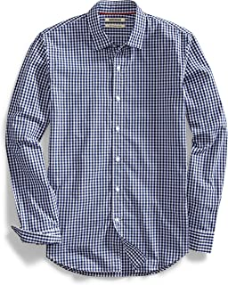 Goodthreads Men's Slim-Fit Long-Sleeve Gingham Plaid...