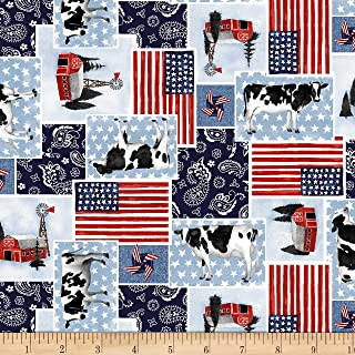 Heritage Usa Patchwork Patriotic Fabric by the Yard