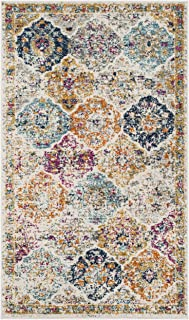 Safavieh Madison Collection MAD611B Boho Chic Floral Medallion Trellis Distressed Non-Shedding Stain Resistant Living Room...