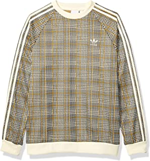 Men's Tartan Crewneck Pullover Sweatshirt