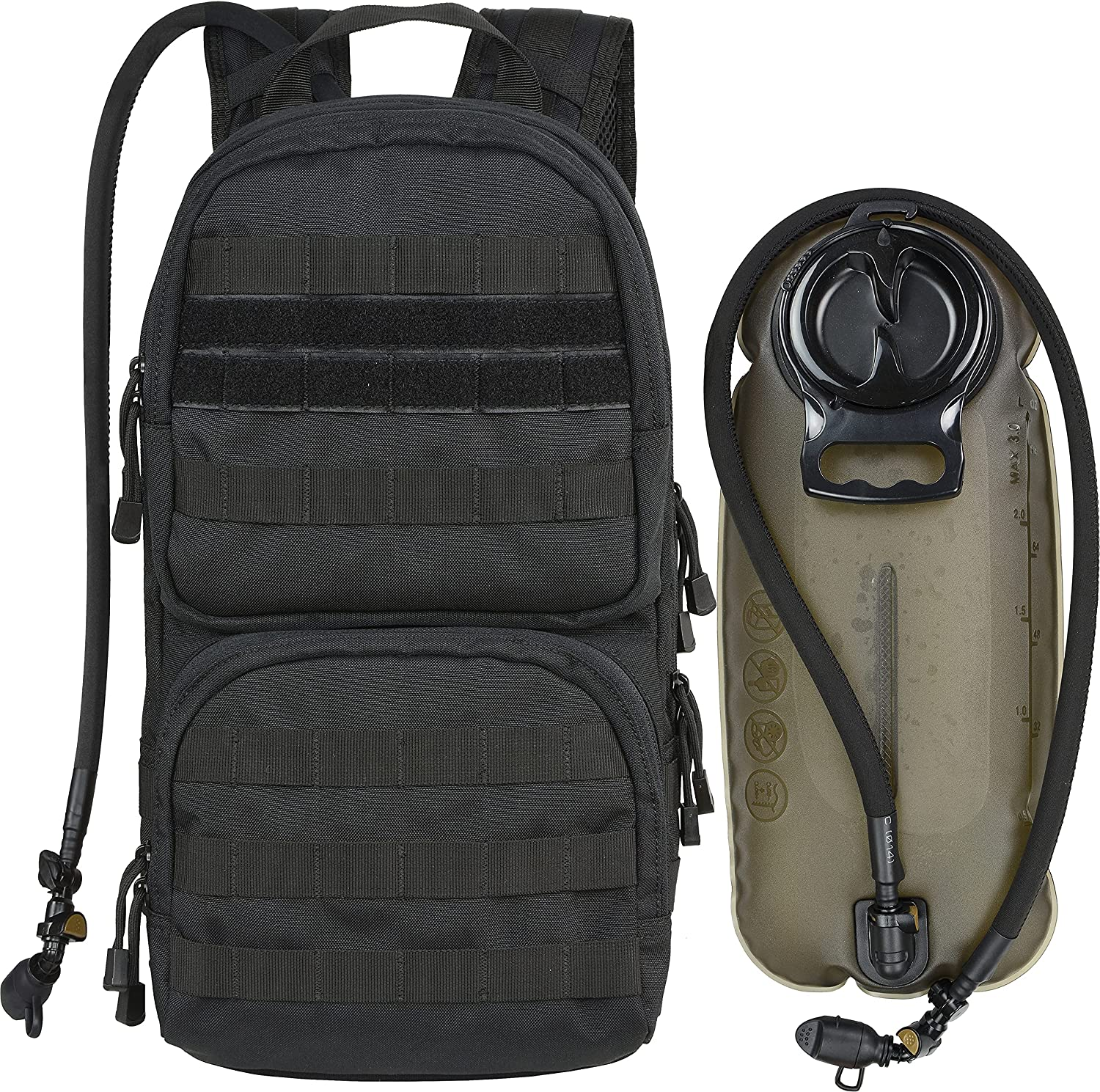 MARCHWAY Tactical Molle Hydration Finally popular brand Pack with 3L Water TPU Bladder Max 76% OFF