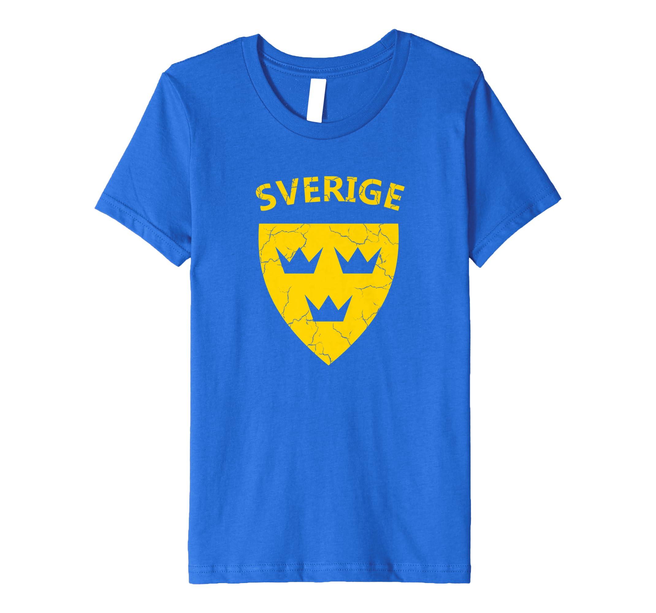 Amazon com: Swedish Shirt Sverige Tshirt Soccer Tre Kronor Three