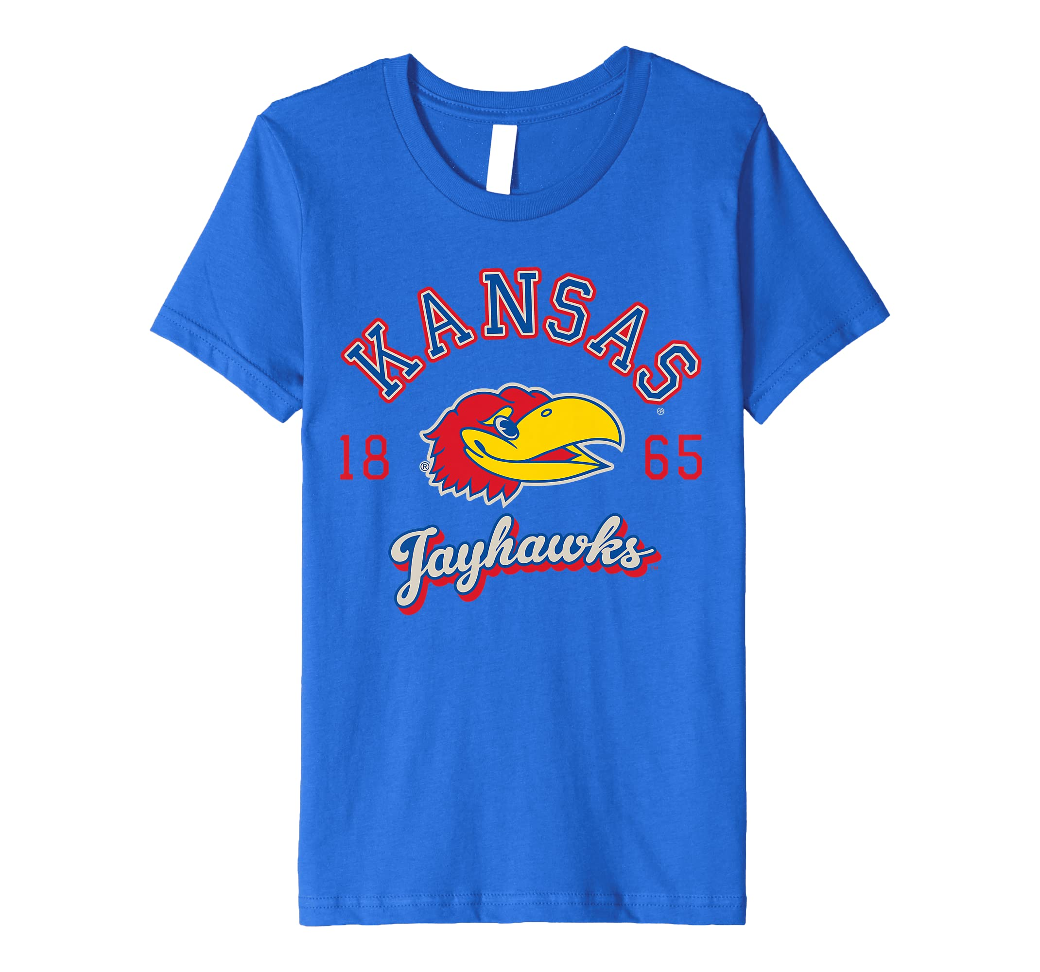 8d6551c6e Amazon.com: Kansas Jayhawks KU NCAA Women's T-Shirt uofk1002: Clothing