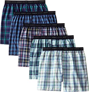 Men's 5-Pack Woven Exposed Waistband Boxers