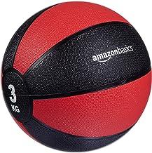 Amazon Basics Medicijnbal, Zwart/Rood, 3 kg, MED3KG