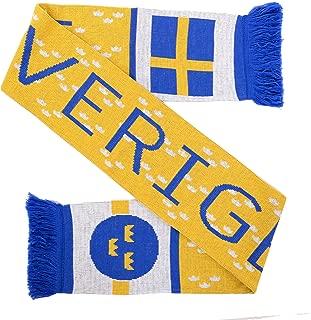 Sverige Sweden Soccer Knit Scarf