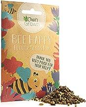 Bee Happy - Premium Meadow Flower Mixture, 10,000 Bee Friendly Flower Seeds for 10-20 sqm, Wildflower Mix by OwnGrown, Bee...