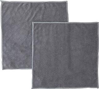 マーナ(MARNA) 汚れからめ取りクロス(2枚入)掃除の達人 水垢 手垢 油汚れ マイクロファイバー 蛇口 雑巾 W641GY グレー 30×30cm