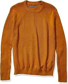 Sean John Men's Motto Contrast Sleeve Crew Neck Sweater