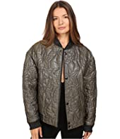 Just Cavalli - Glitter Tiger Embroidered Oversized Bomber