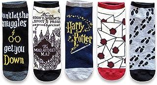 Hyp Harry Potter Marauder`s Map Letter Muggle Juniors/Womens 5 Pack Ankle Socks Size 4-10