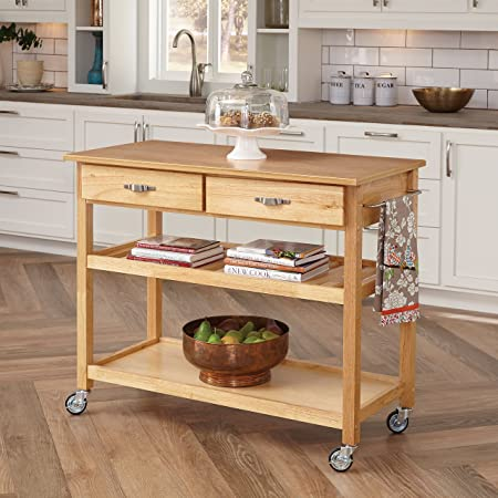 Amazon Com Natural Designer Utility Cart By Home Styles Kitchen Islands Carts