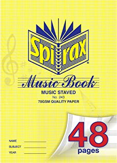 SPIRAX Ruled 243 A4 Music Book, 48 Pages, (55243)