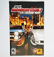 Midnight Club 3 DUB Edition REMIX PS2 Instruction Booklet (Sony PlayStation 2 Manual Only - NO GAME) [Pamphlet only - NO GAME INCLUDED]
