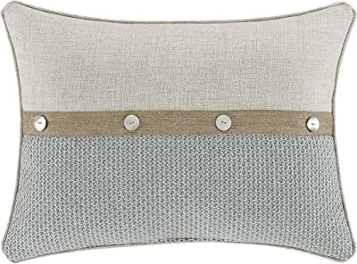 Five Queens Court William Boudoir Coastal Casual Decorative Throw Pillow, Spa, 21X15