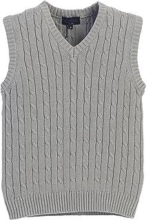 Gioberti Boy's V-Neck Cable Knit Sweater Vest