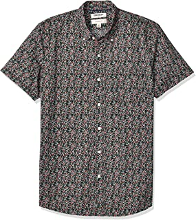 Marca Amazon - Goodthreads Slim-fit Short-sleeve Anchor-print Shirt - camisa Hombre
