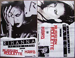 Rihanna - Rated R - Two Sided Poster - Russian Roulette - Rare - New