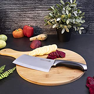 "Royalford 6"" Cleaver Knife -Razor Sharp Meat Cleaver Stainless Steel Vegetable Kitchen Knife, Multipurpose Chef Knife for ..."