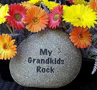 my grandkids rock garden rocks