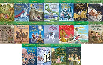 18 Books: Magic Tree House Merlin Mission Collection Books 29 - 46 Christmas in Camelot, Haunted Castle on Hallow's Eve, Summer of the Sea Serpent, Winter of the Ice Wizard, Carnival at Candlelight, Season of the Sandstorms + 12 More