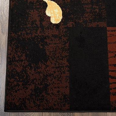 """Home Dynamix Ariana Galil Area Rug 3 Piece Set (4'11"""" x6'11,1'8"""" x4'11,1'8"""" x2'8), Geomet"""