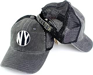 American Needle New York Raglan Bones Mesh Back Slouch Adjustable Trucker Hat