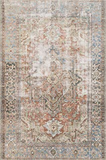 Loloi Loren Collection Vintage Printed Persian Area Rug 3'-6